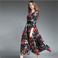 2017 European Station New Brand Women S Wear Neck Collar Lace Long Dress Composite Lace Dress