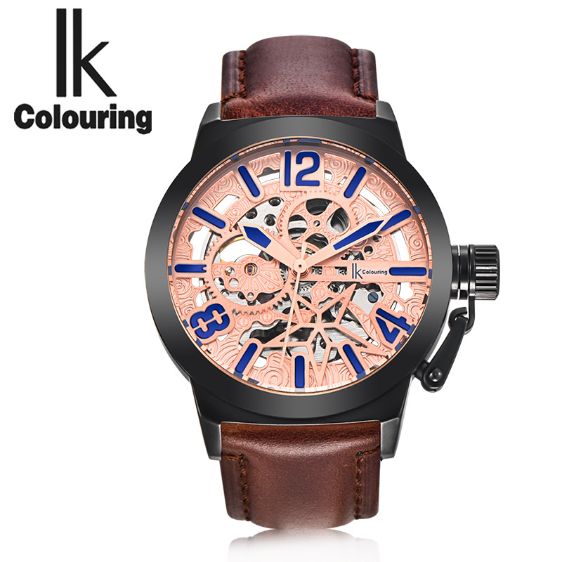 Ik api watches men's mechanical watches through the end of fashion sports thirty meters waterproof automatic mechanical men walking through the path of faith