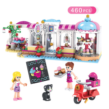 Friends Heartlake Cupcake Cafe Building Blocks Model Bricks Girl Toy 41119 Compatiable with  Children gifts bela 10562 friends series heartlake riding club model building block bricks toy for children compatible with legoe friends 41126