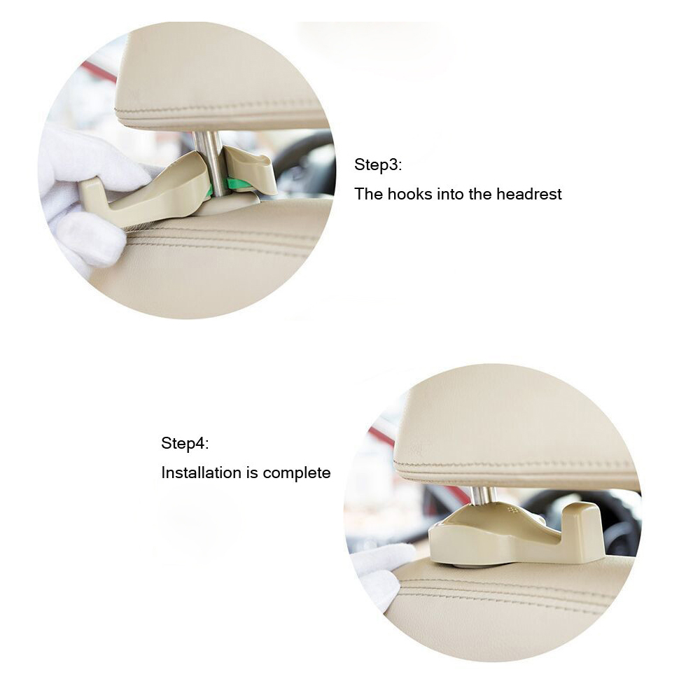 How to Install Car Seat Bags Hook Hanger Holder Organizer