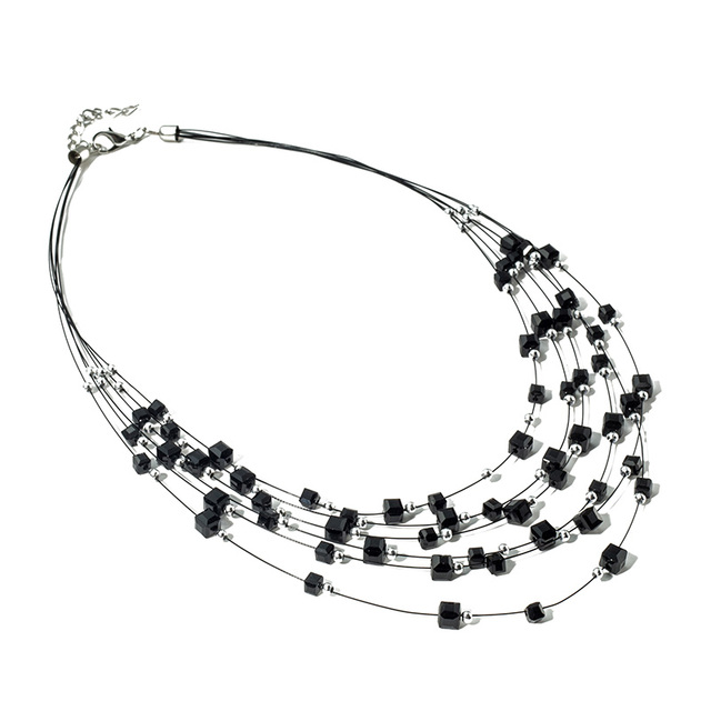 Multilayer Beaded Statement Necklace