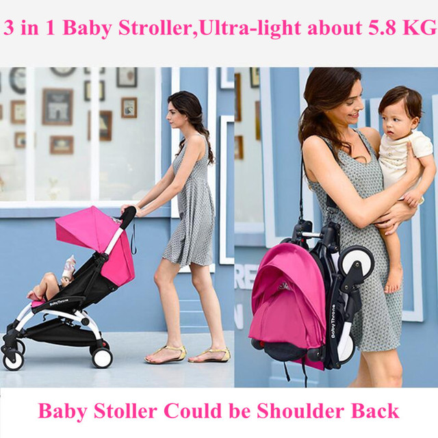 Carrinho De bebê 3 em 1 Guarda-chuva Dobrável de Carro Do Bebê Multifuncional Carrinhos de Bebês com Assentos de Segurança de Carro Do Bebê do Transporte Da Gota Livre