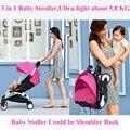 Cochecito de bebé 3 en 1 Plegable Paraguas Coche de Bebé Multifunción Bebés Carruajes con Seguro de Coche de Bebé Asientos Envío de La Gota Libre