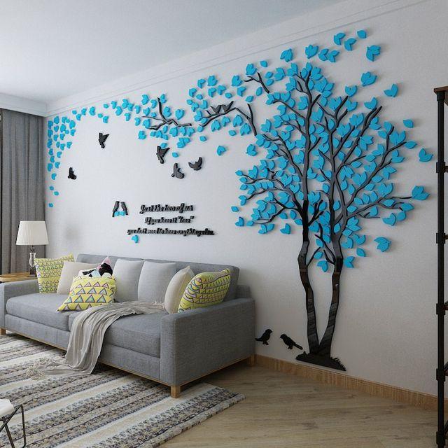 Online Shop 3D adesivi Murali Grande Albero Murales per Soggiorno ...