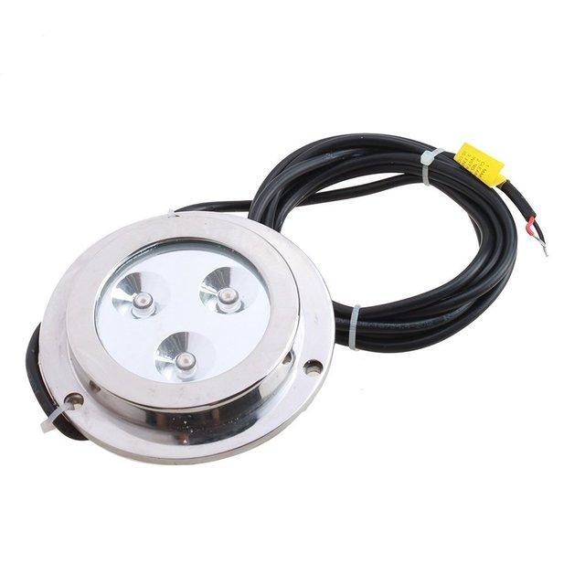 CNIM Hot 3*2w Yellow Stainless Steel IP68 Waterproof LED Marine Underwater Light Boat Yacht light