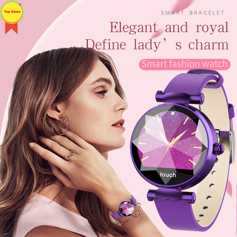 2019 Smart Watch Female Sport Wristband Smartwatch Blood Pressure heart rate Physiological cycle monitor Smart Bracelet for Lady