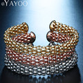 AYAYOO Fashion 3 PCS/Set Bracelet & Bangle For Women Gold/Silver/Rose Plated Classical Adjustable Geometric Accessories