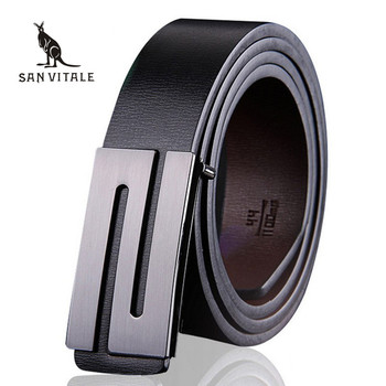 Men Belt Luxury Smooth buckle belts High quality buckles international famous brand Cowhide leather for men free shipping