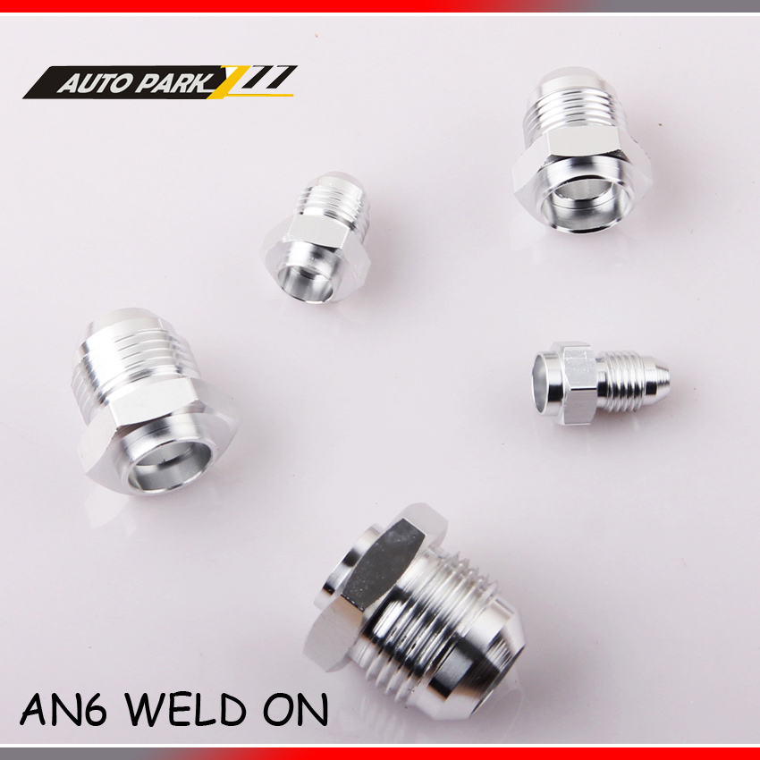 6 AN -6 06 6AN -6AN AN6 MALE Aluminum WELD ON FITTING ADAPTER