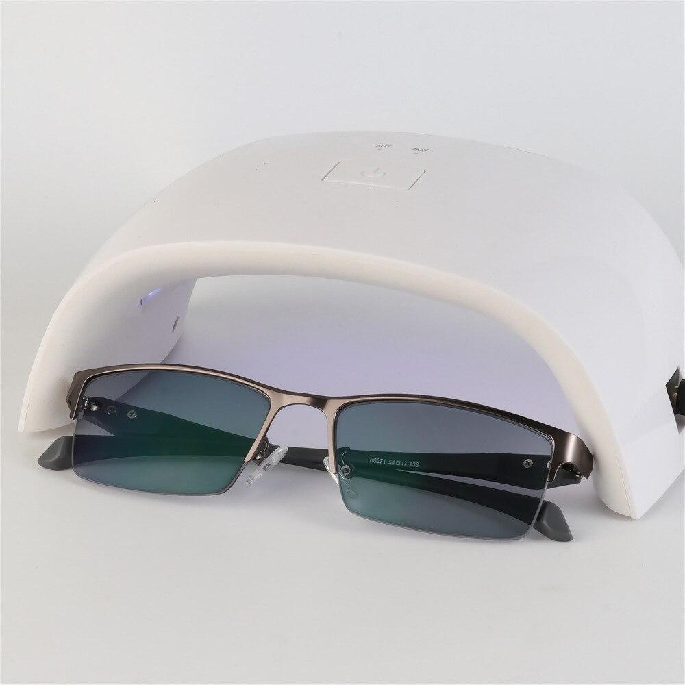 Nuevo Sol fotocrómico miopía gafas opticas hombres estudiante miopía acabado gafas graduadas Marco de gafas medio borde-1,0-4,0 - 3