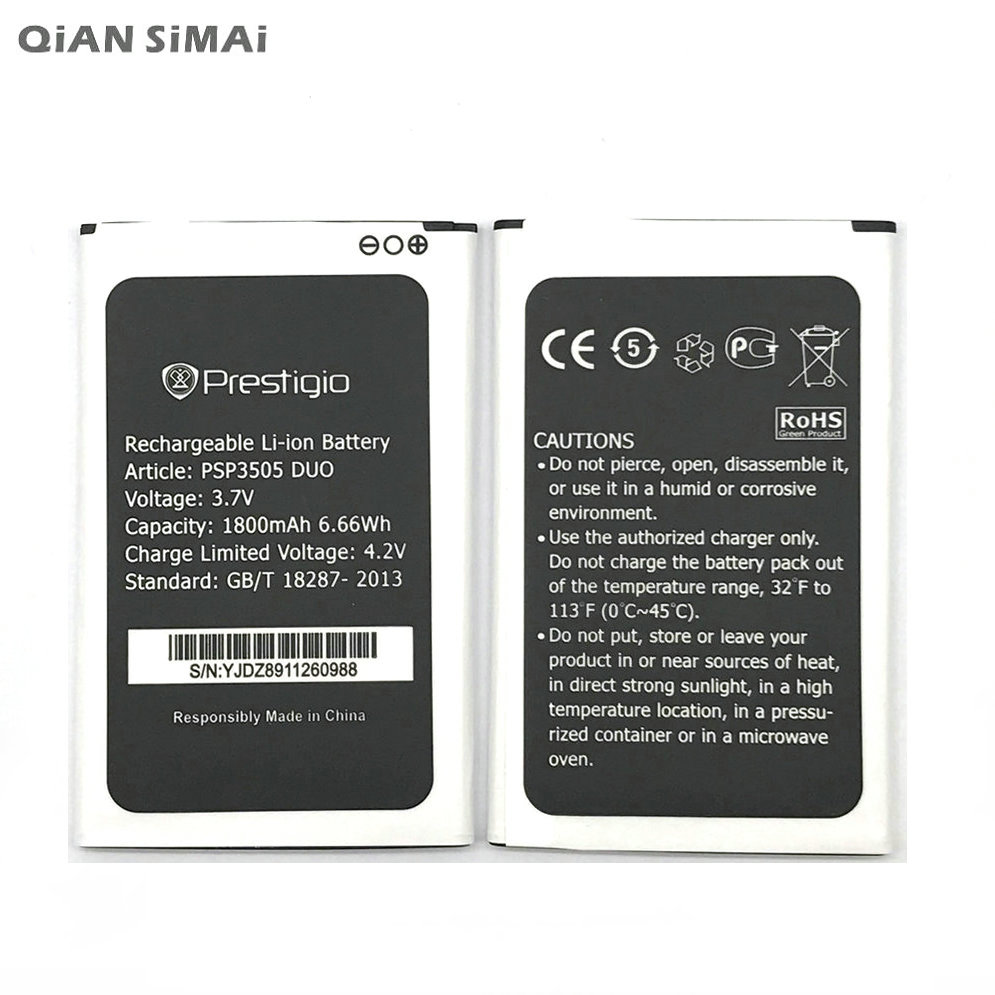 New Battery For PSP3505 Duo 1800Mah Replacement Phone Battery For Prestigio Wize D3 3505 PSP3505Duo