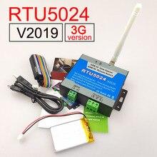 Controle remoto de chamada sms rtu5024 3g/gsm, abridor de portão e bateria para falha de energia, versão 2019 alerta de alerta