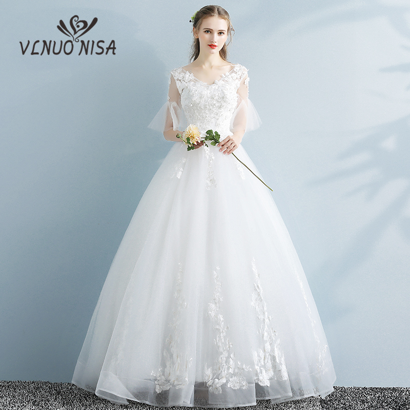Wedding Gown Korean Style: New 2018 Korean Style Wedding Bridal Dresses Fluttering