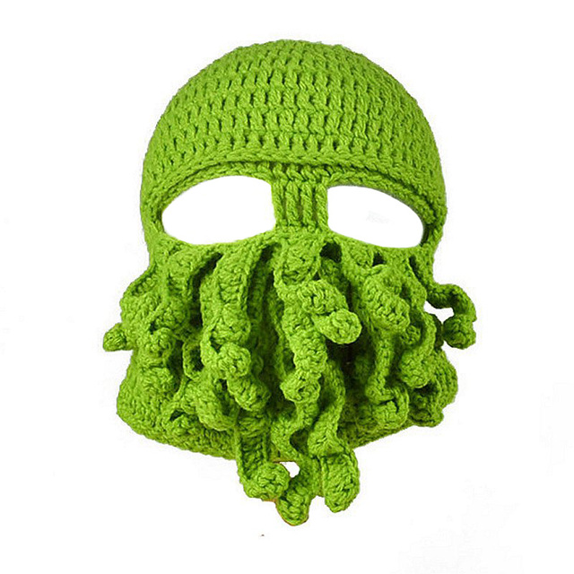 Fancy pirates of the caribbean Octopus winter hat cool crochet Hallowmas style knitting masked hat  for boys and girls