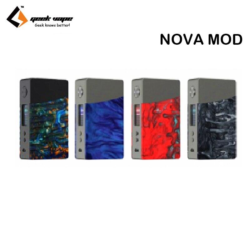 Original Geekvape NOVA MOD 200W Box Mod Vape Support Cerberus Sub Ohm Tank Electronic Cigarettes Vaporizer Vape Kit 100% original geekvape gbox mod 200w gbox squonker box mod vape fit 8ml squonk bottle support radar rda tank