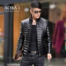 Hot sell ! 2016 winter jackets mens motorcycle slim stand collar men's short leather down coat fashion warm modern urban M – 4XL