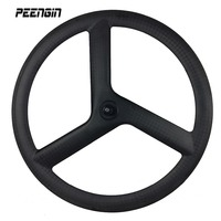 Carbon Tri Spokes 700C Road Wheels 20mm Width 50mm Depth Tubular Wheel