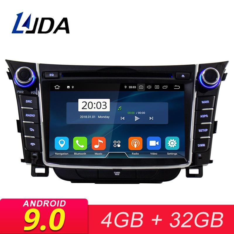 LJDA Dvd-Player Multimedia Audio Car-Radio Hyundai I30 Elantra Android 9.0 2-Din Gps Stereo
