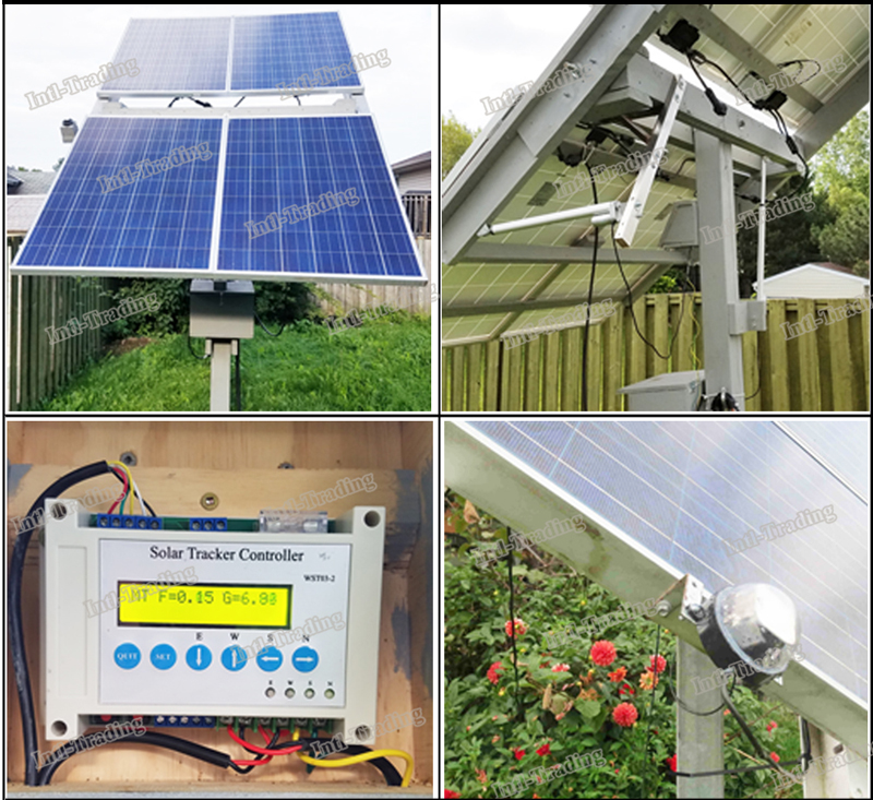 US $299 99  DC 12V Complete Dual Axis Solar Tracker Tracking System Kits &  2PCS 18
