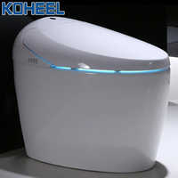 Luxury Smart One-Piece Toilet S-trap Intelligent WC Elongated Remote Controlled Smart Bidet Toilet