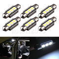 10x36mm Error Free High Power Xenon White 5050 SMD OBC 3 LED 6411 6418 C5W SV8,5 INTERIOR, NUMBER PLATE car bulbs