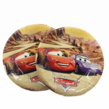6pcs/set 7inch  Lightning Mcqueen Cartoon Plate Children Party Supplies Kids Birthday Decoration Event And Favors