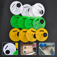 12Pcs Beekeepers Tools Plastic Round Beehive Entrance Bee Hive Nuc Box Nest Door Vents Beekeeping Equipment Supplies