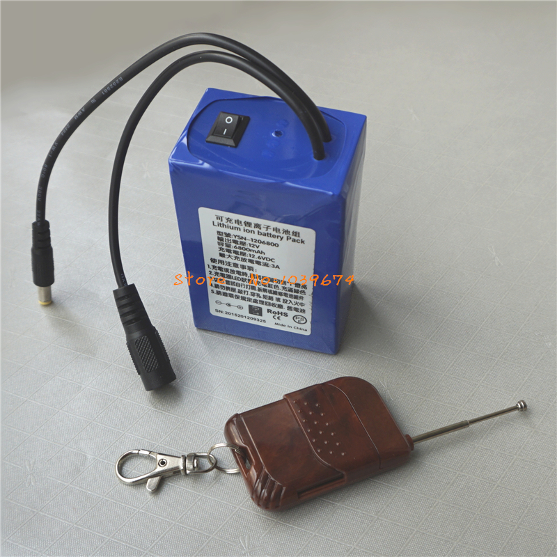 Remote Control <font><b>12V</b></font> 6800MAH <font><b>3AH</b></font> Li-ion Rechargeable <font><b>Batteries</b></font> for Power Bank with FREE Charger & DIY Connector image
