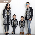 Family fitted fall winter family Matching baseball uniform father mother thicker coat jacket fashion clothes unisex Boy Girl set