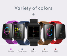 Купить с кэшбэком Q9 Blood Pressure Smartwatch Message Display Multi-Sport Model Heart Rate Waterproof Smart Watch Fitness Tracker