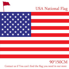 Free shipping 90x150cm 60x90cm American Flag Polyester US USA Banner National Pennants of United States