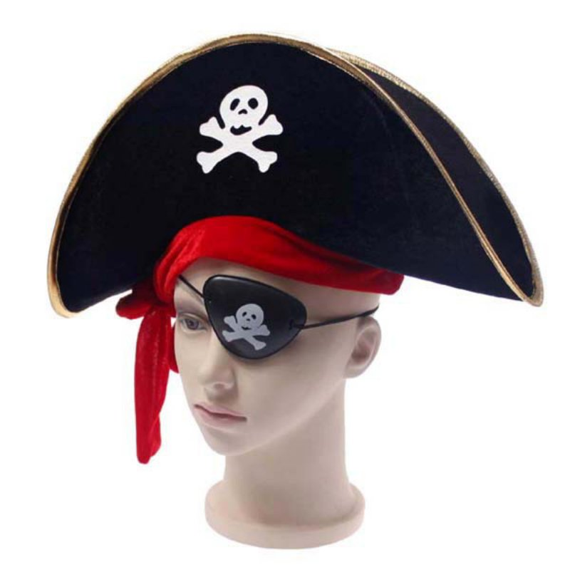 New Arrival Halloween Accessories Skull Hat Caribbean Pirate Hat Piracy Hats Corsair Cap Party Props Cosplay Costume Theater Toy ...