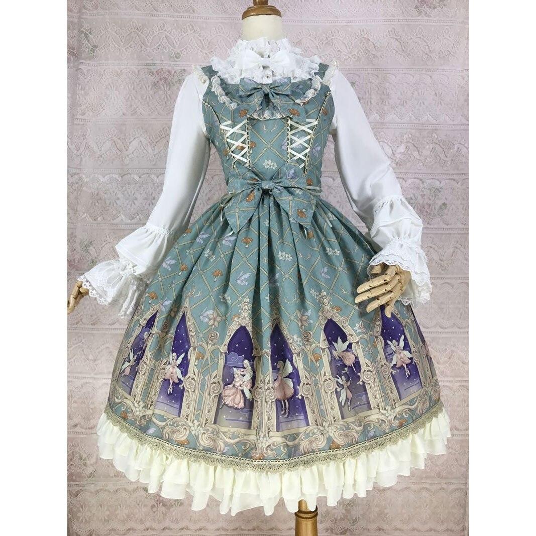 Elf of Dream Sweet Printed Lolita JSK Chiffon Dress by Yiliya Pre order