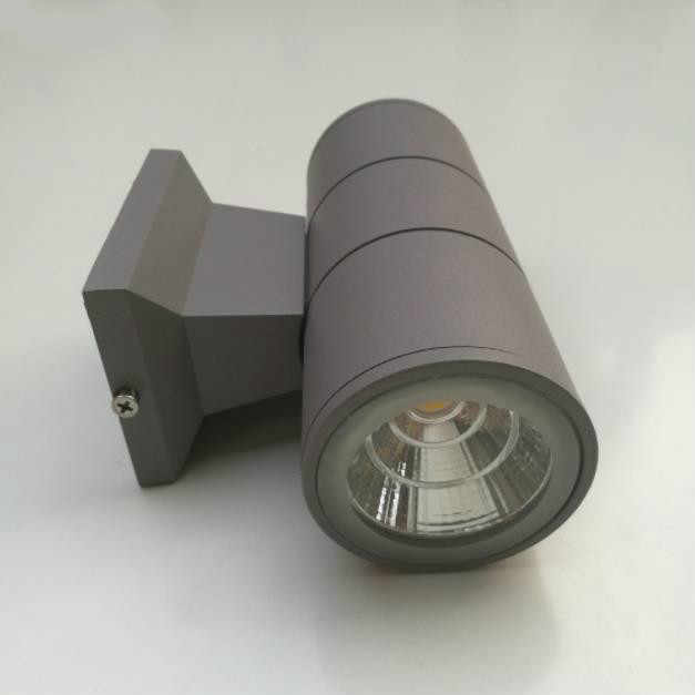Алюминиевая трубка круглая настенная лампа черный серый вверх вниз открытый настенный светильник 10 Вт крыльцо сад Водонепроницаемый наружное освещение