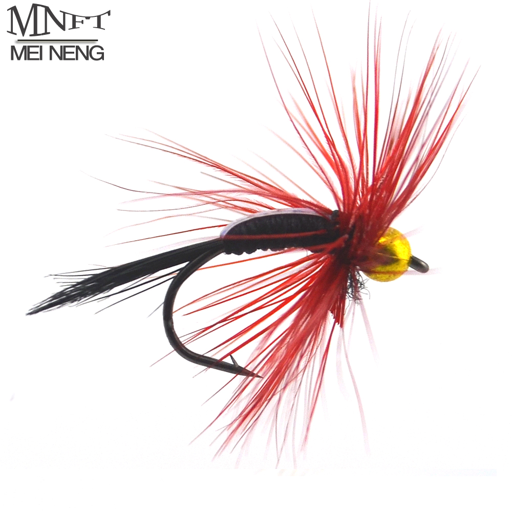 MNFT 10PCS 11#  Dry Flies Brass Goldhead Trout / Grayling Fishing Flies Wet Fly Bead Head Prince Nymph With 2 packing Choice mnft 10pcs 14 plastic golden bead head nymph fly larva flies brim perch baits small bugs for trout bream blue gill fly fishing