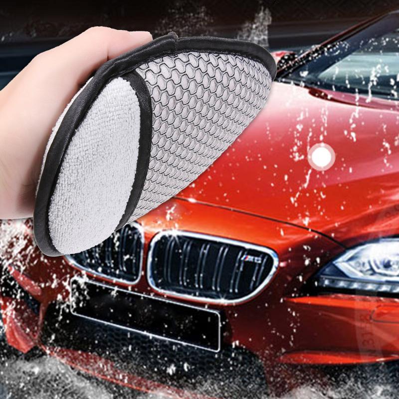 1Pcs Auto Care Soft Microfiber Car Wax Applicator Pads Polishing Sponges Car Washing Dust Clleaning Ultra Soft Sponge Cleaning