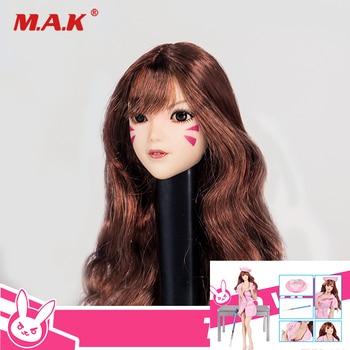 TMY019 1:6 Scale Female Head Sculpt Carving Model & Nurse Clothes Suit for 12'' Woman Action Figure Body Accessories
