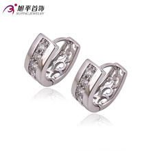 2017 Fashion Silver Rhodium Plated Earrings female new arrival cubic zirconia fashion earring party wedding gift jewelry C017224