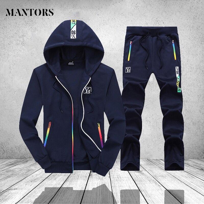 184a4398 Повседневное спортивный костюм Для мужчин комплект осень-зима Роскошные спортивной  костюм для мужчин Костюмы спортивные