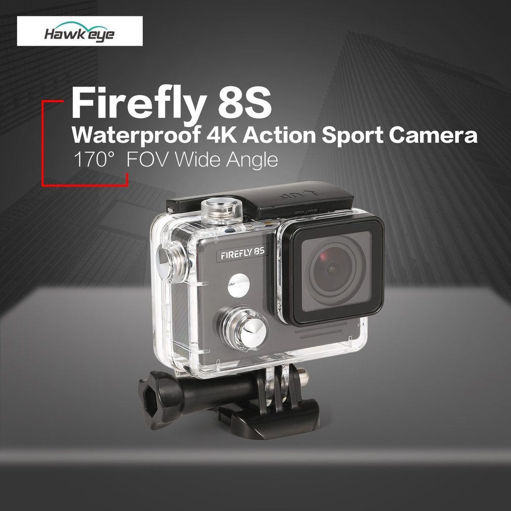 Hawkeye Firefly водостойкая 8 s К 4 K 30fps широкоугольная Bluetooth Wifi HD экшн-Спортивная камера 170 FOV широкоугольная камера для RC Drone