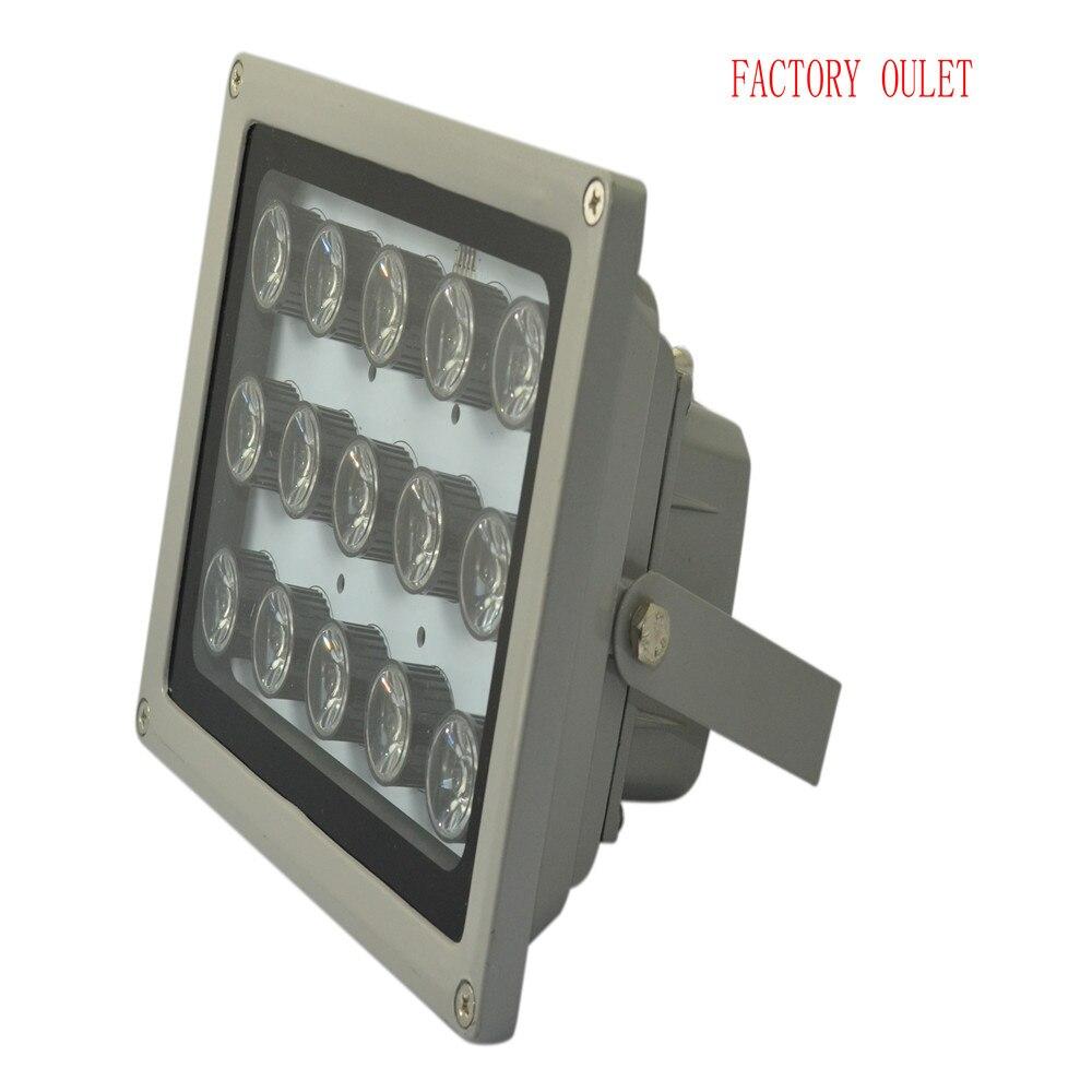 1 piezas infrarrojos 15 alta potencia LED IR iluminador infrarrojo CCTV luz LED Luz de relleno de la Cámara 850nm matriz de led 100 M impermeable