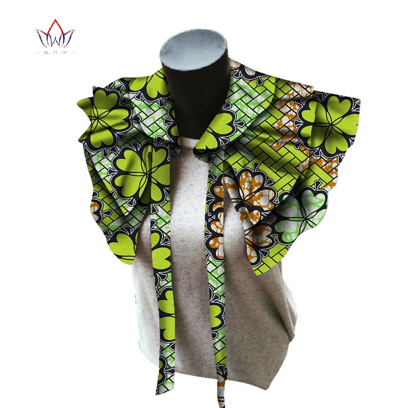 цена на BRW 2018 Fabric African Necklaces for Women Shawl African Chokers Necklaces Print Ankara Tribal Handmade False Collar WYB257