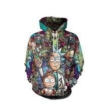 Rick And Morty Hoodies 3D Christmas Unisex Anime Style Sweatshirts