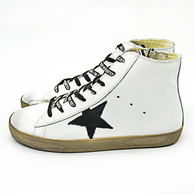 Original Italy Deluxe Casual Golden Shoes Men Women High Tops Genuine Leather White Lovers Goose Shoes Scarpe Uomo Calzado Mujer hogan scarpe uomo