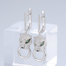 Silver Earrings For Women Dangle Panther