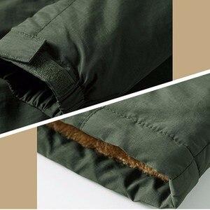 Image 5 - KOSMO MASA noir fourrure Parka hommes manteaux dhiver veste hommes coton fermeture éclair militaire à manches longues à capuche décontracté Parkas 5XL MP027