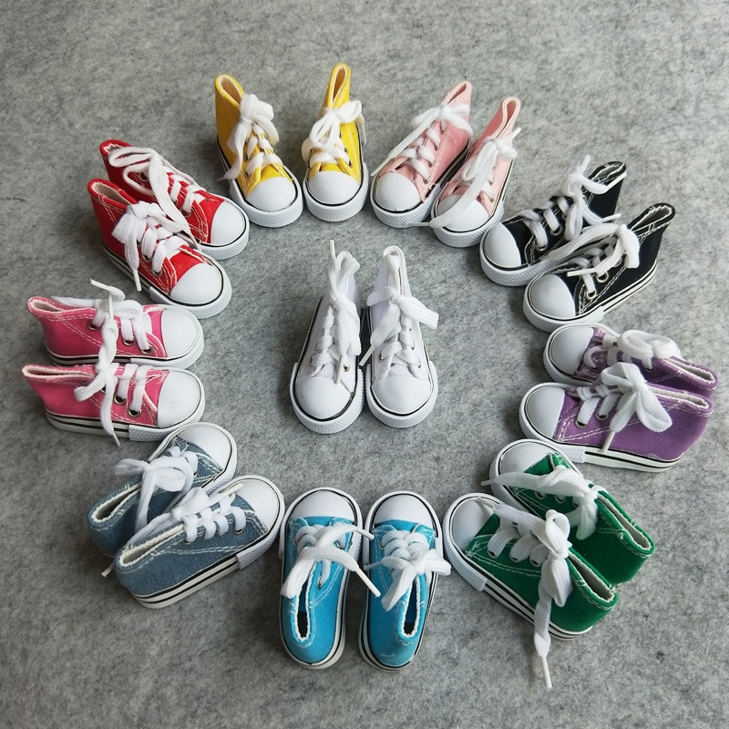 50Pairs lot Wholesale 1 4 BJD Shoes Multi Colors Cavans Shoes For BJD Dolls
