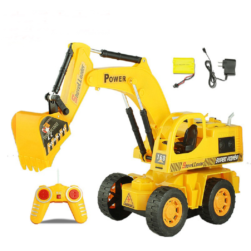 Electric Toy Cars For Boys : Wireless remote control excavator rc engineering vehicles