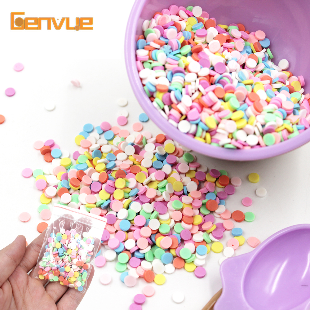 10g Fake Sprinkles Addition Filler For Slime Charms Lizun Polymer Clay Slime Supplies Accessories DIY Putty Beads Ball Cake Kit