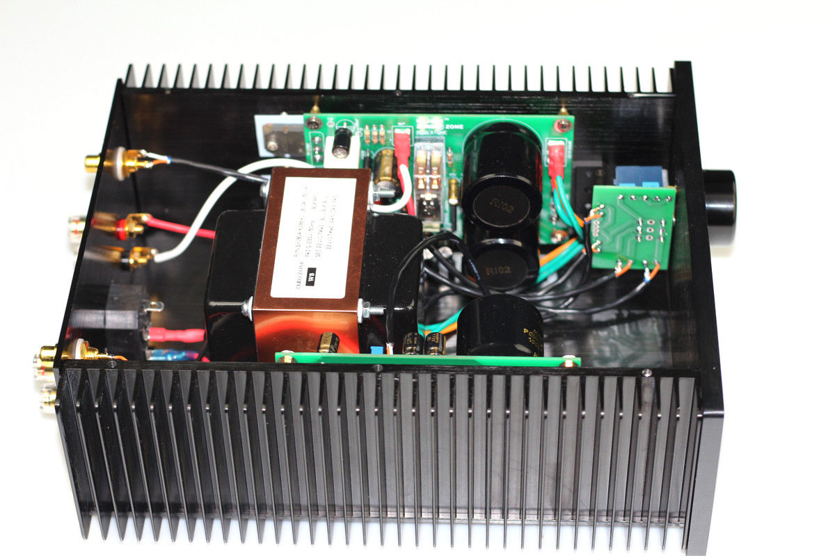 Finished X-one Stereo Class AB MOS desktop Power amplifier  30W+30W amp    L4-12